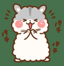fluffy hamster2 sticker #9779077