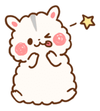 fluffy hamster2 sticker #9779079