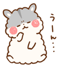 fluffy hamster2 sticker #9779081