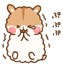 fluffy hamster2 sticker #9779084