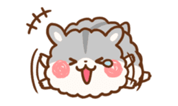 fluffy hamster2 sticker #9779085