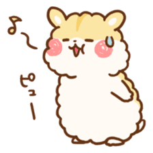 fluffy hamster2 sticker #9779086