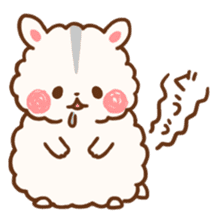fluffy hamster2 sticker #9779087