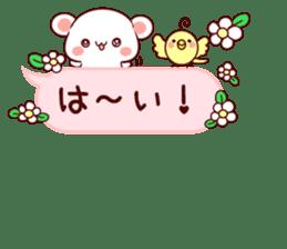 LOVE KUMA fukidashi sticker #9781016