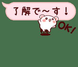 LOVE KUMA fukidashi sticker #9781017
