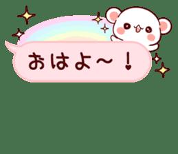 LOVE KUMA fukidashi sticker #9781019