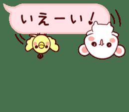 LOVE KUMA fukidashi sticker #9781020