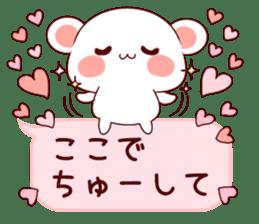 LOVE KUMA fukidashi sticker #9781047