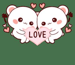 LOVE KUMA fukidashi sticker #9781048