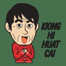 Asan Pek (Hokkien) - CNY sticker #9782936