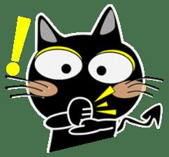 Black cat Happy 3rd sticker #9784260