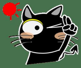 Black cat Happy 3rd sticker #9784264