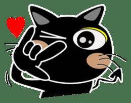 Black cat Happy 3rd sticker #9784274