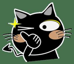 Black cat Happy 3rd sticker #9784278