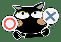 Black cat Happy 3rd sticker #9784279