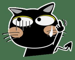 Black cat Happy 3rd sticker #9784287