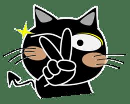 Black cat Happy 3rd sticker #9784289