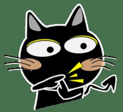 Black cat Happy 3rd sticker #9784290