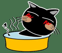 Black cat Happy 3rd sticker #9784292