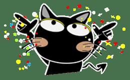 Black cat Happy 3rd sticker #9784294