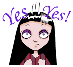 Goth and Steampunk girls sticker #9786229