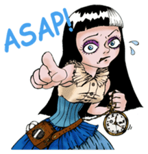 Goth and Steampunk girls sticker #9786234