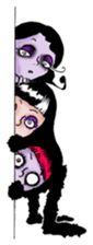 Goth and Steampunk girls sticker #9786244