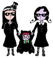 Goth and Steampunk girls sticker #9786245