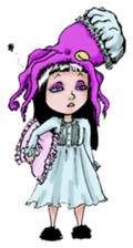 Goth and Steampunk girls sticker #9786247
