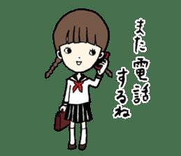 sailor schoolgirl sticker #9789417