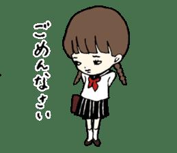 sailor schoolgirl sticker #9789419
