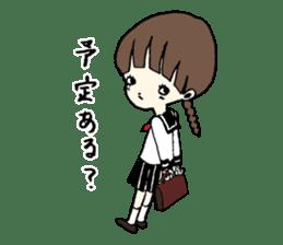 sailor schoolgirl sticker #9789420