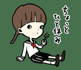sailor schoolgirl sticker #9789425