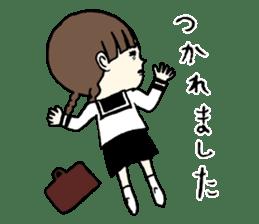 sailor schoolgirl sticker #9789427