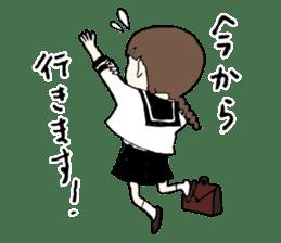 sailor schoolgirl sticker #9789430