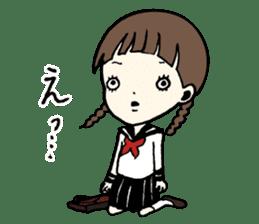 sailor schoolgirl sticker #9789432