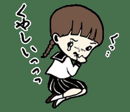 sailor schoolgirl sticker #9789433