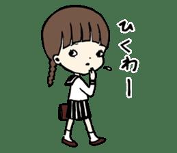 sailor schoolgirl sticker #9789434
