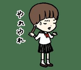 sailor schoolgirl sticker #9789435