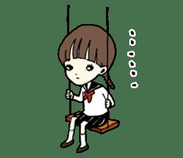 sailor schoolgirl sticker #9789437