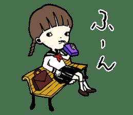 sailor schoolgirl sticker #9789439