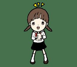 sailor schoolgirl sticker #9789444
