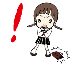 sailor schoolgirl sticker #9789447