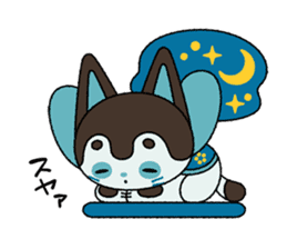 Ken of a Japanese traditional dog toy. sticker #9793030
