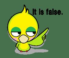 or parakeet english sticker #9812123