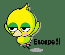 or parakeet english sticker #9812126