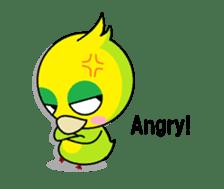 or parakeet english sticker #9812136