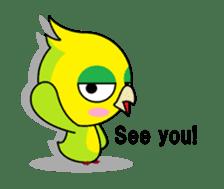or parakeet english sticker #9812159