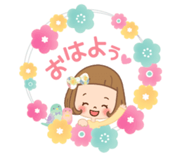 Natural sticker of the girl sticker #9830600