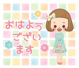 Natural sticker of the girl sticker #9830601